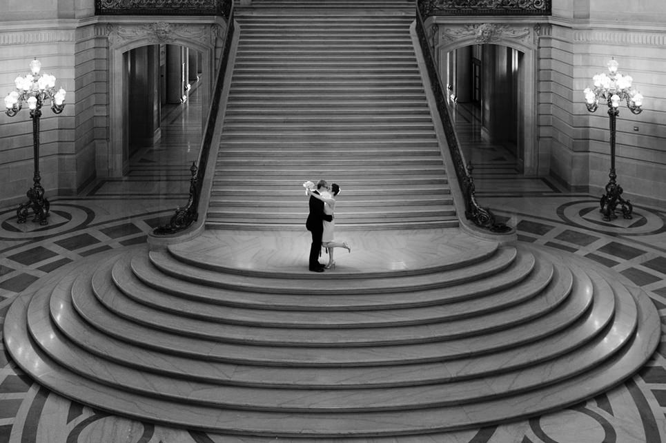 Wedding Photography image of the Grand Staircase at SF City Hall