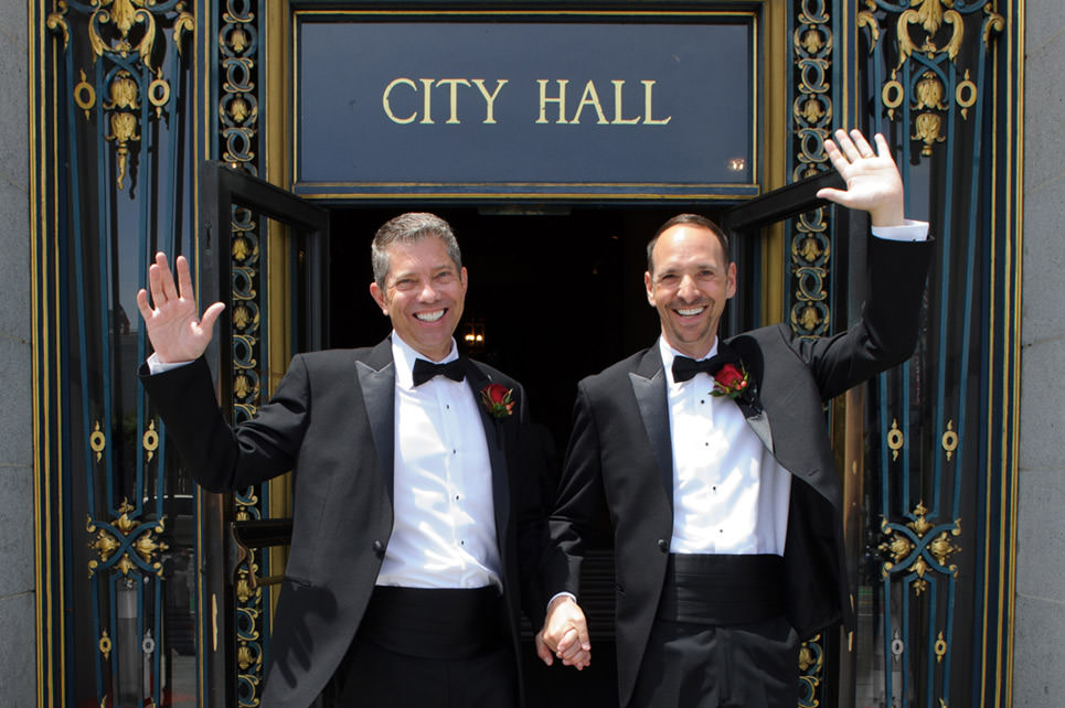 same-sex city hall wedding photography